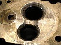 Заделка трещин в корпусе двигателя