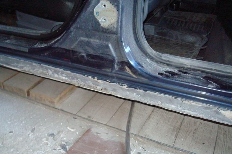 Как выпрямить порог на автомобиле в домашних условиях 288