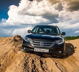 Honda CRV 2.4 на российских дорогах