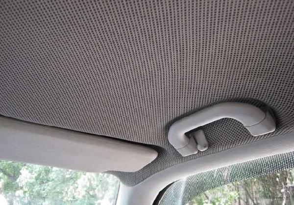 Перетяжка потолка салона в машине
