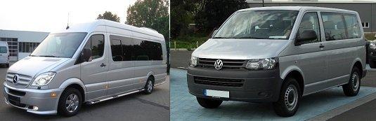 Микроавтобусы Volkswagen и Mercedes - какой лучше?