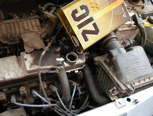 Как должна происходить замена масла в двигателе Лады Калины