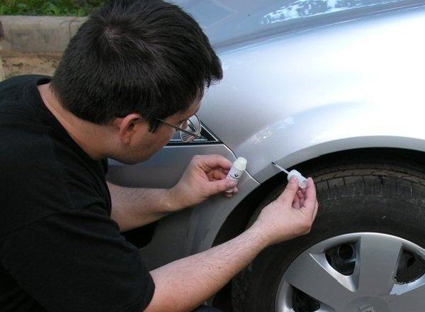 Как убрать сколы на машине своими руками