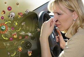 Чистка автомобиля — удаление неприятных запахов