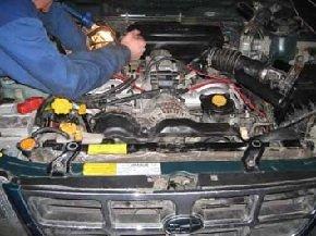 Установка двигателя после ремонта