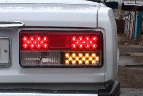 Самостоятельный тюнинг фар ВАЗ 2107 светодиодами