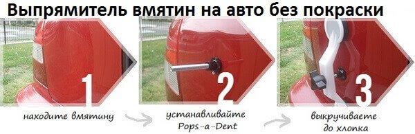 Нажимай и посмотри! Прибор для удаление вмятин на авто без покраски POPS-A-DENT оформите заявку и избавьтесь от вмятин навсегда