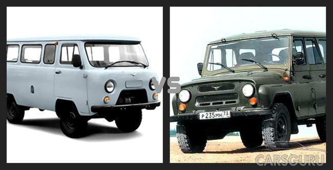 Сравнение УАЗ Буханка и УАЗ 469