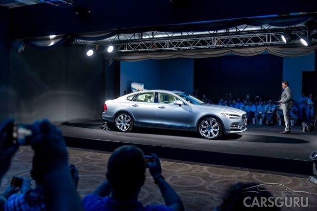 Флагманский седан Volvo S90 представили в России