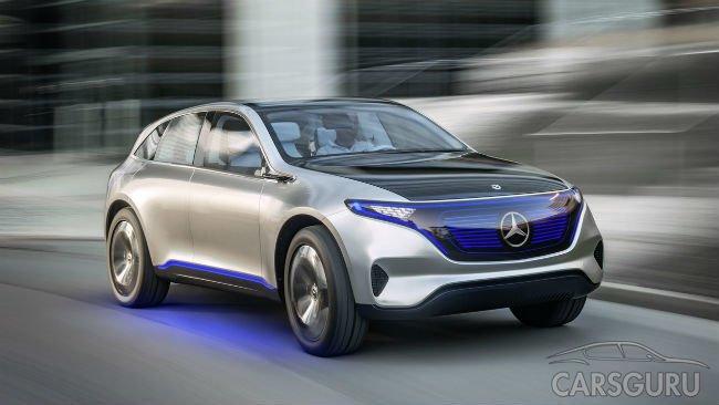 Mercedes показал в Париже концепт электрического кроссовера
