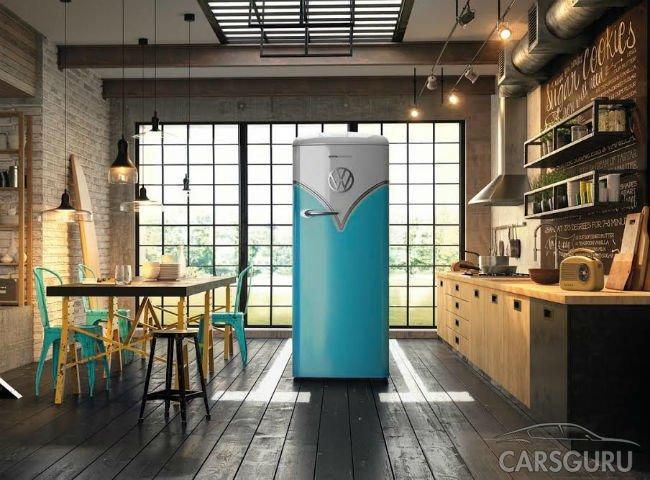 Холодильник в стиле ретро-Volkswagen