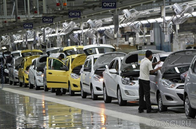 Индия выбила Корею из пятерки ведущих автопроизводителей