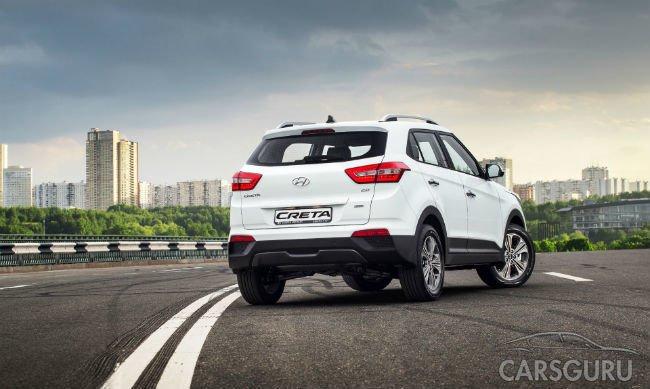 Hyundai Creta ворвался в топ-10 самых популярных автомобилей России
