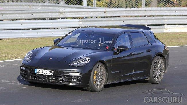 Появились новые шпионские фотографии универсала Porsche Panamera