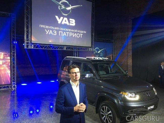 УАЗ объявил цены на обновленный Патриот
