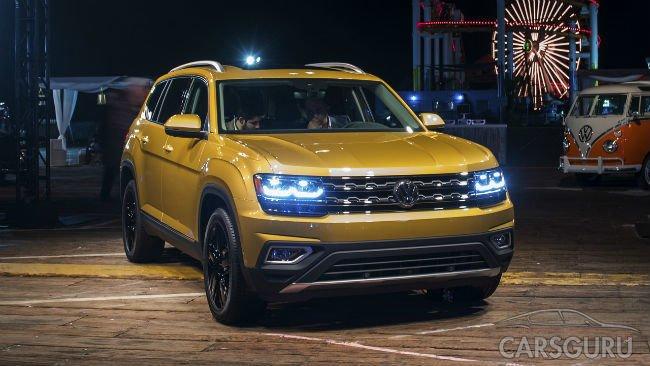 В США представили новый семиместный Volkswagen Atlas