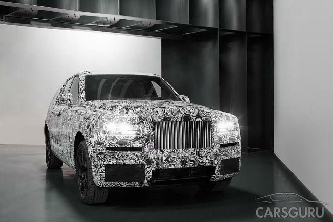 Разработка в Rolls-Royce проекта кроссовера Cullinan выходит на новый уровень