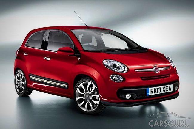 Новая версия Fiat 500 станет пятидверной
