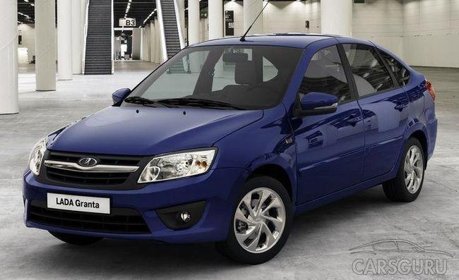 Первую позицию по продажам в автосалонах двух российских городов получила LADA Granta