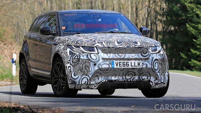 Range Rover Evoque готовится к обновлению