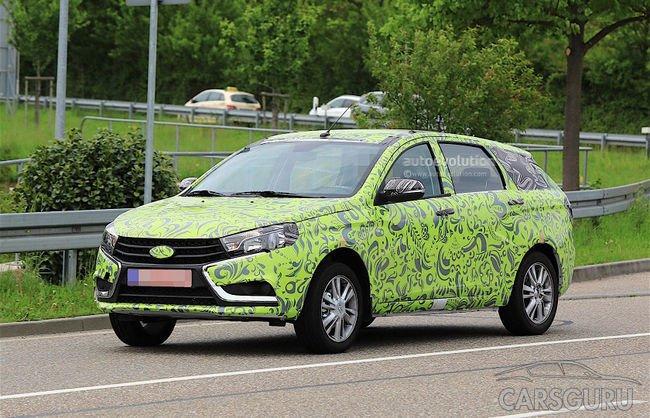 Lada Vesta был замечен на тестах в Европе