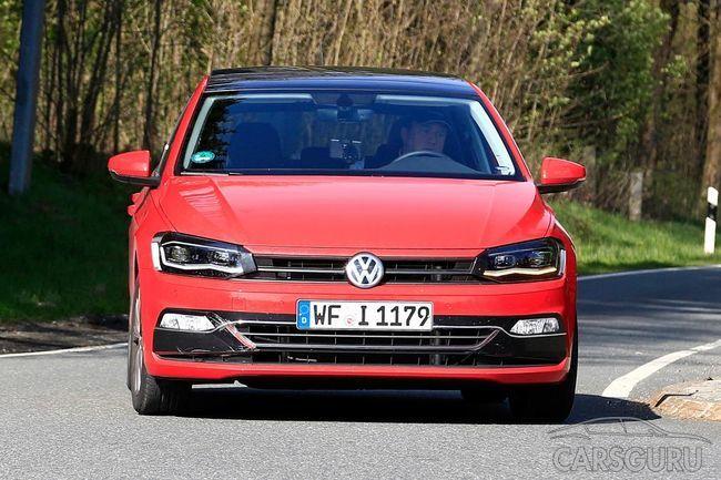 Обновленный Volkswagen Polo замечен на тестах