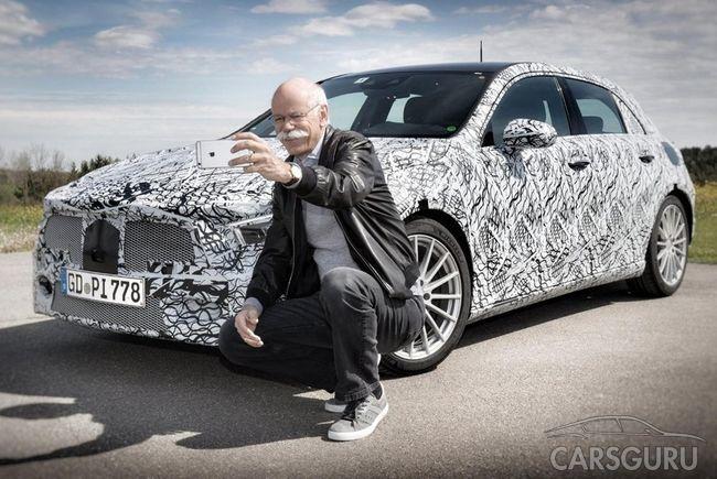 В Сети появились фотографии нового хэтчбека Daimler