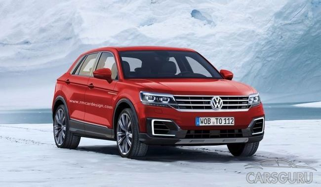 Появились первые рендерные фото Volkswagen T-Cross