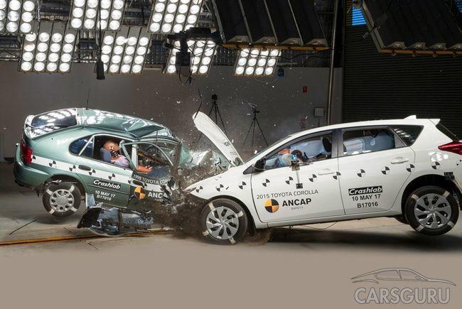 Краш-тест двух поколений Toyota Corolla: кто кого?