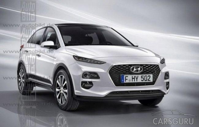 Рендерные снимки Hyundai Kona уже в Сети