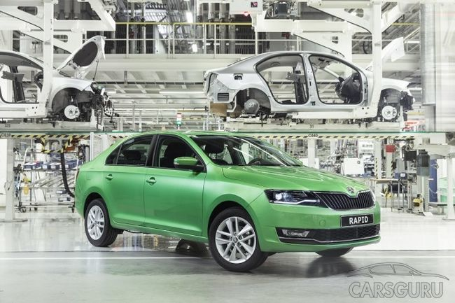 В России стартовало производство Skoda Rapid