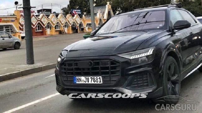 Прототип вседорожника Audi Q8 заметили на московских дорогах