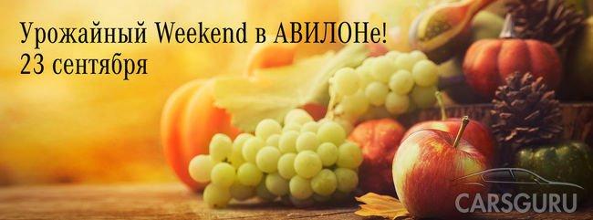Приглашаем на урожайный weekend в АВИЛОН!