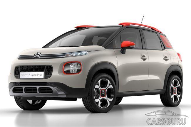 Citroen начнет продажи нового кроссовера C3 Aircross в России