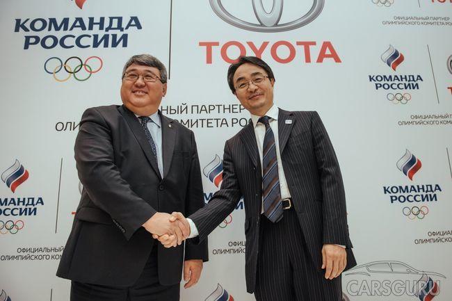 Объявлен старт легендарного партнерства Toyota Rus и Олимпийского Комитета России