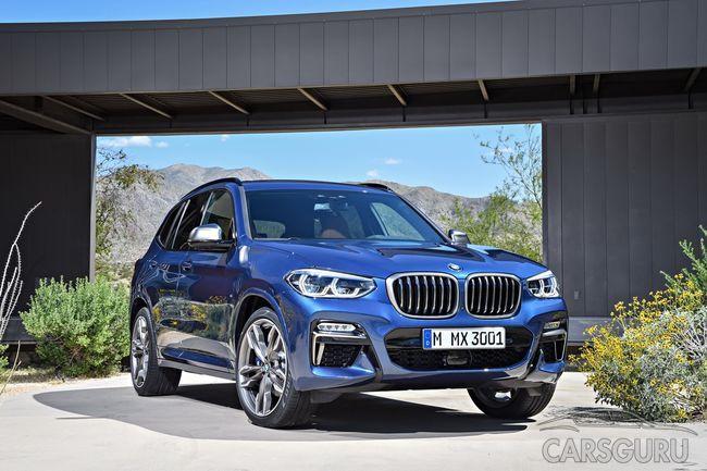 Новая генерация BMW X3 уже представлена в автосалонах страны