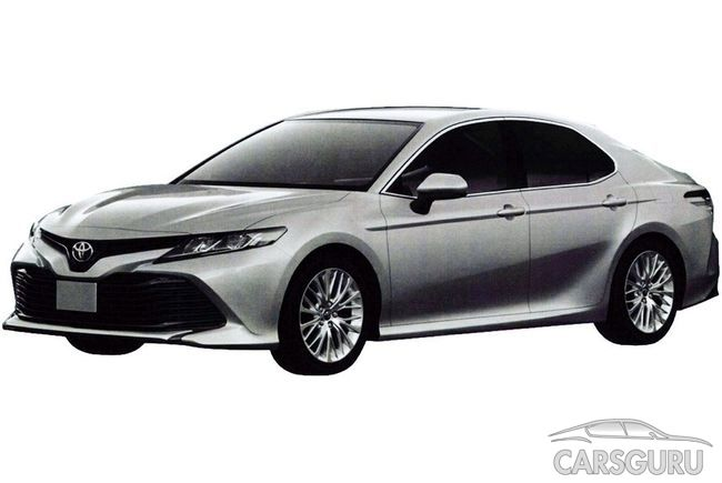 Первые фото новой Toyota Camry для российского рынка