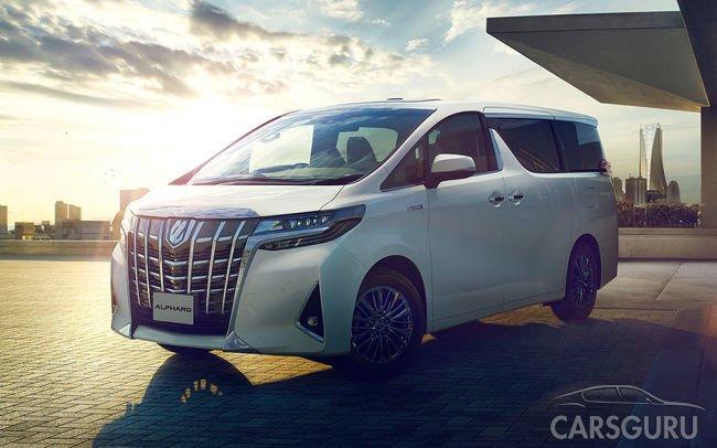 Toyota обновила свой нестандартный минивэн Alphard