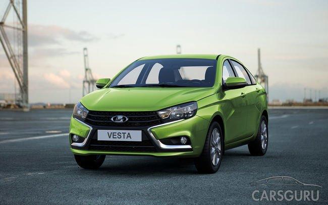 В ноябре LADA Vesta заняла второе место в рейтинге самых продаваемых авто в России