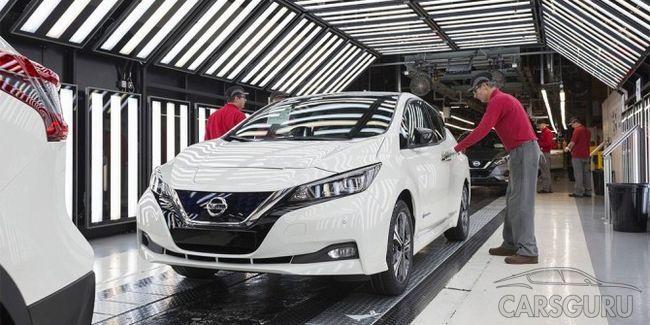 В Европе начался выпуск Nissan Leaf нового поколения