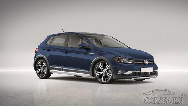 Volkswagen Polo Alltrack с повышенной проходимостью: тестовые изображения