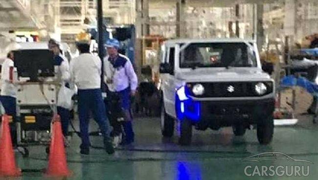 Появилось первое изображение нового внедорожника Suzuki Jimny