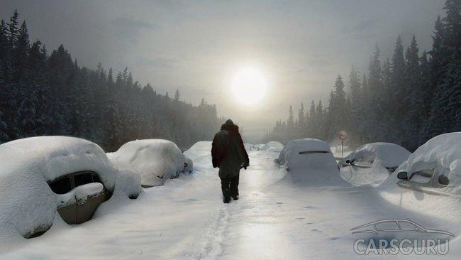 Невероятный снегопад: жители Норильска ищут в сугробах свои машины
