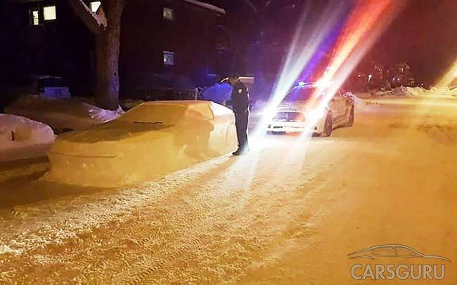 Полицейские хотели выписать штраф за неправильную парковку снежной машине