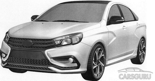 Новинка в базе Роспатента: дизайн Lada Vesta Sport