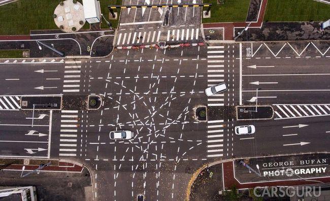 В Румынии появилась новая непонятная разметка, по которой боятся ездить водители