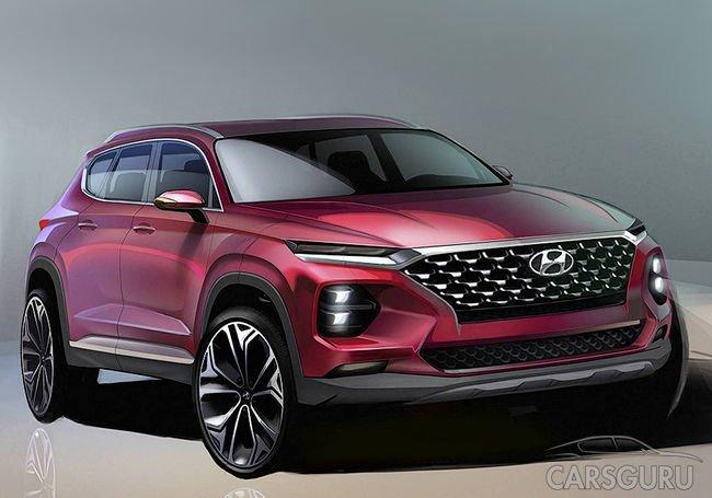 Появились первые тизеры нового поколения Hyundai Santa Fe