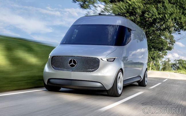 Sprinter нового поколения от Mercedes. Видео
