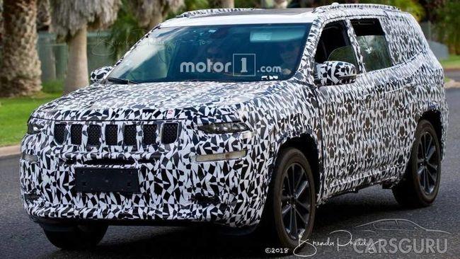 Новый крупный внедорожника от Jeep попал под объективы фотошпионов