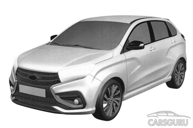 Официально запатентована новая версия Lada Xray Sport